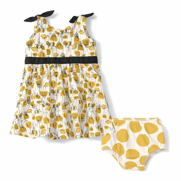 Vestido-Com-Calcinha-Lilica-Ripilica-Amarelo-Bebe-Menina