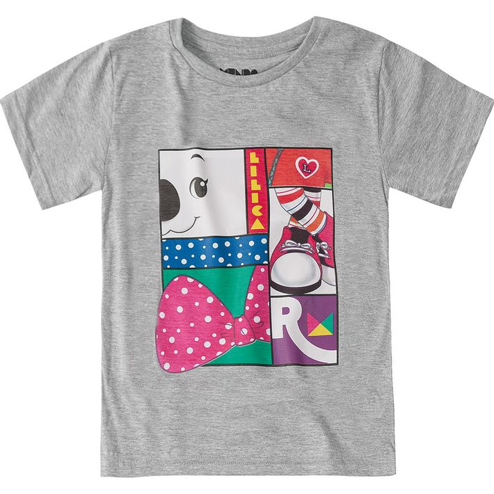 Camiseta-Mundo-Ripilica-Cinza-Menina-e-Menino