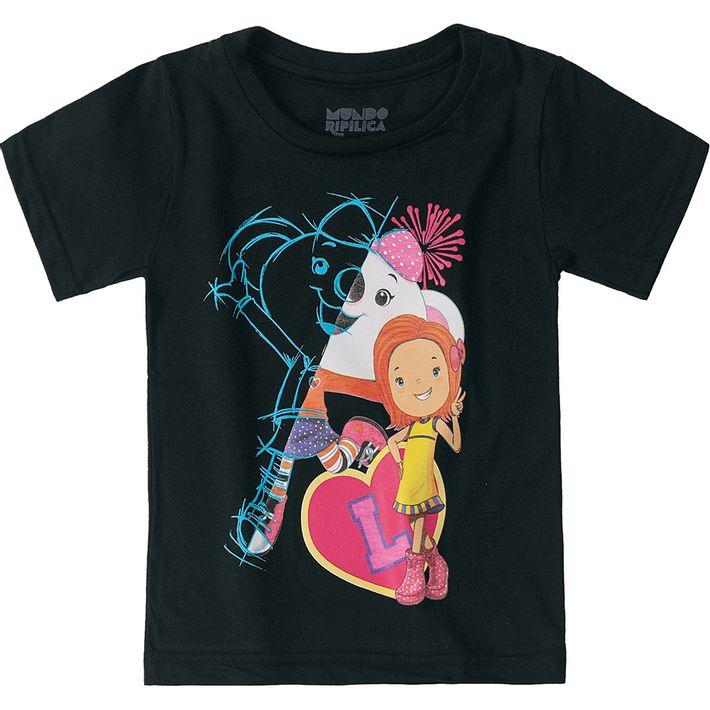 Camiseta-Mundo-Ripilica-Preta-Menina-e-Menino