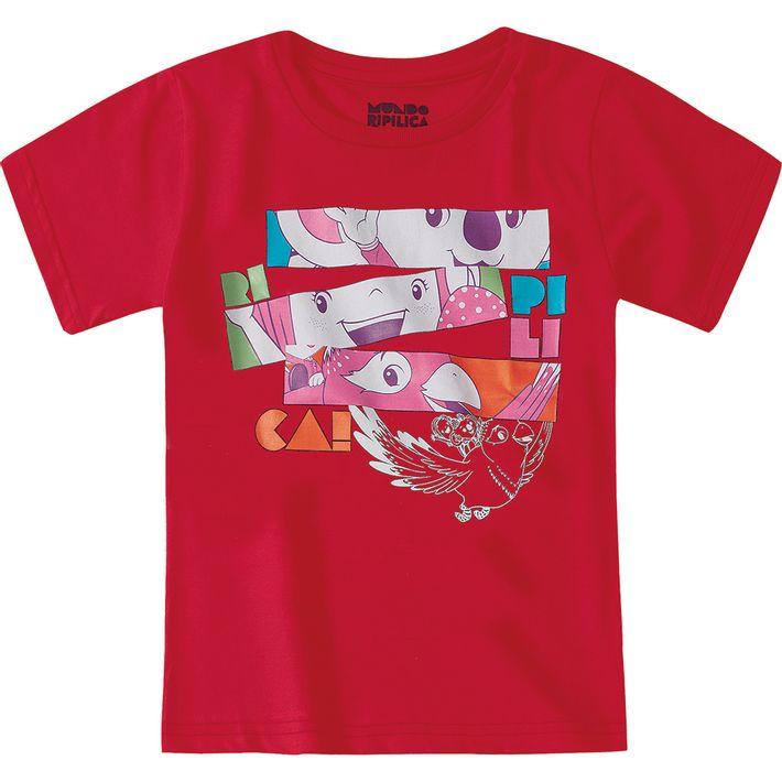 Camiseta-Mundo-Ripilica-Vermelha-Menina-e-Menino
