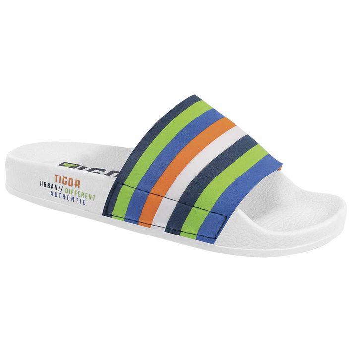 Chinelo-Slide-Tg-Color-Tigor-Branco-Menino