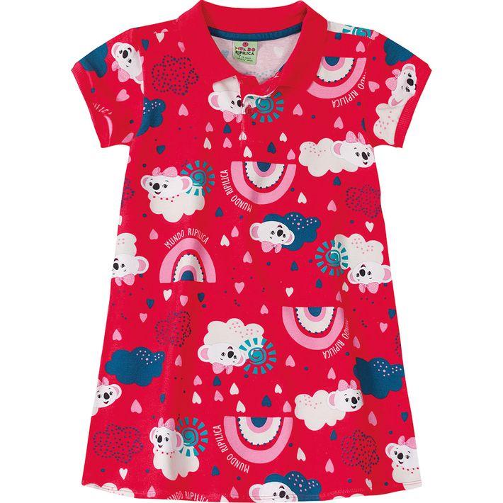 Vestido-Mundo-Ripilica-Vermelho-Menina