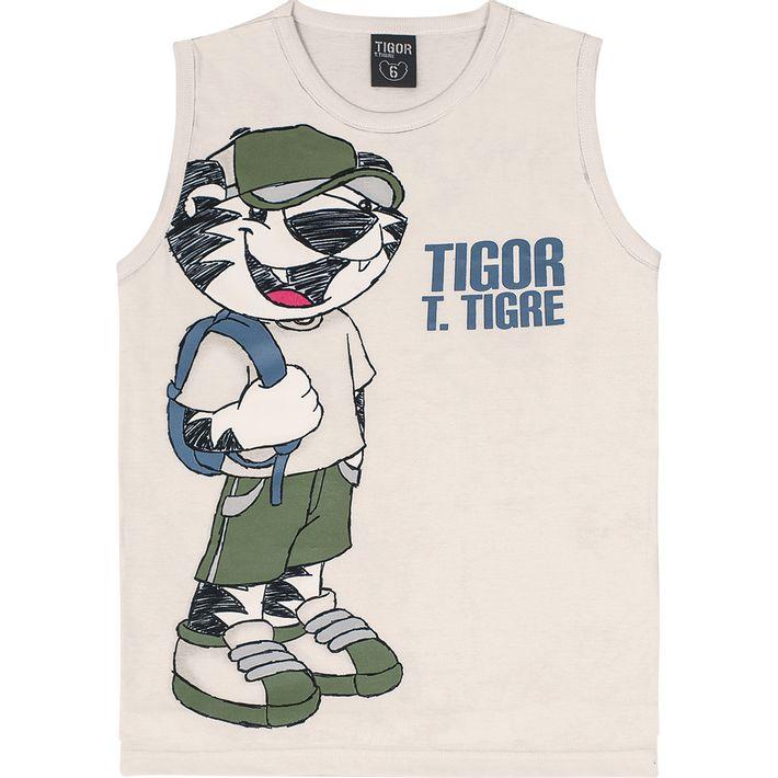 Camiseta-Regata-Tigor-Infantil-Menino---Bege