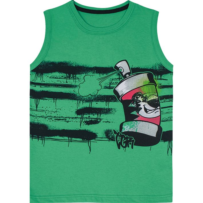 Camiseta-Regata-Tigor-Infantil-Menino---Verde