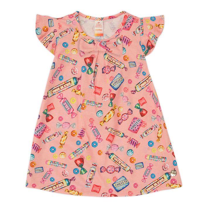 Vestido-Infantil-Menina-Manga-Curta---Rosa