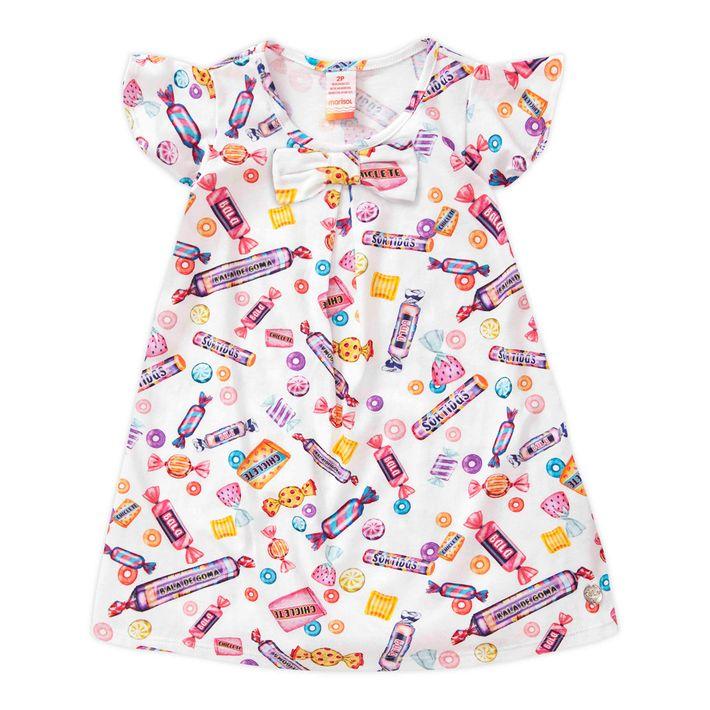 Vestido-Infantil-Menina-Manga-Curta---Branco