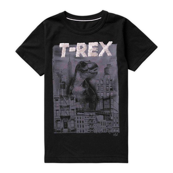 Camiseta-Infantil-Menino-Com-Estampa-De-Dinossauro---Preta