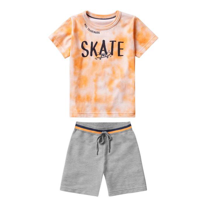 Conjunto-Infantil-Menina-Com-Estampa-De-Skate---Laranja
