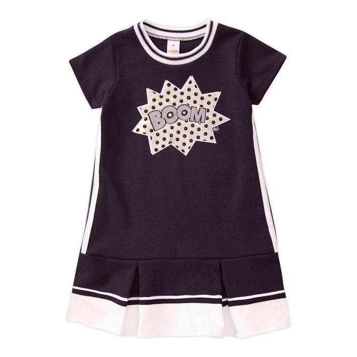 Vestido-Infantil-Menina-Manga-Curta---Preto