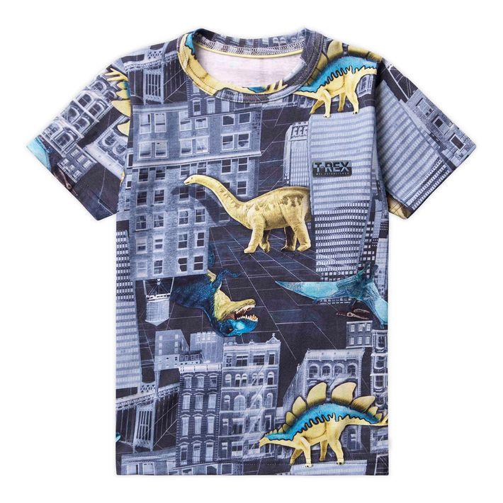 Camiseta-Infantil-Menino-Com-Estampa-De-Dinossauro---Azul