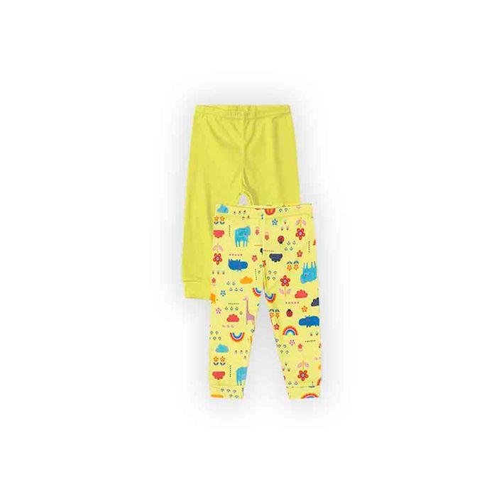 Kit-Calca-2-Pecas-Infantil-Menina-Com-Estampa-Floral---Amarelo