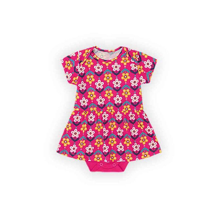 Body-Infantil-Menina-Com-Estampa-Floral---Rosa