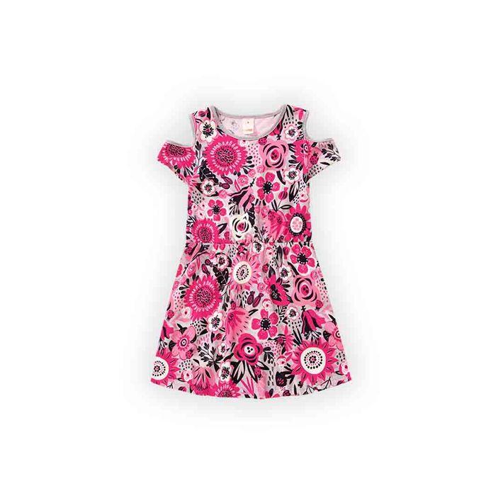 Vestido-Infantil-Menina-Com-Estampa-Floral---Cinza