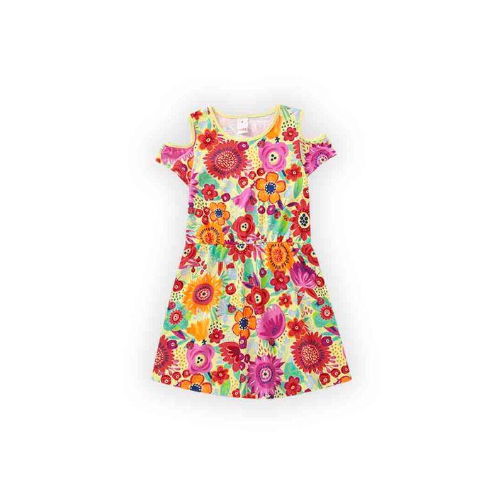 Vestido-Infantil-Menina-Com-Estampa-Floral---Verde