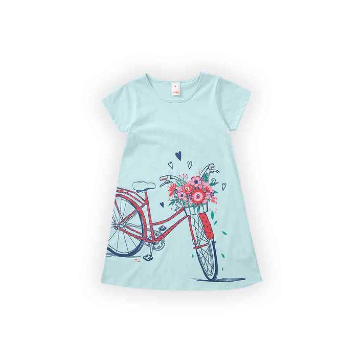 Vestido-Infantil-Menina-Com-Estampa-Frontal---Azul