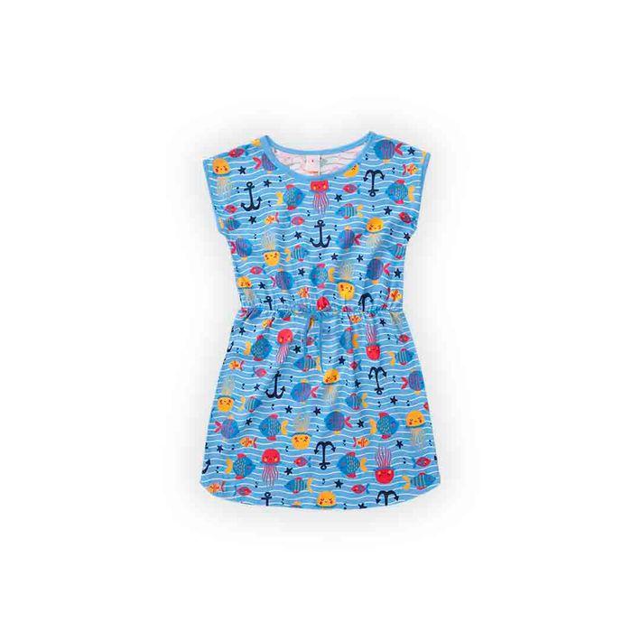 Vestido-Infantil-Menina-Com-Estampa-De-Peixinhos---Azul
