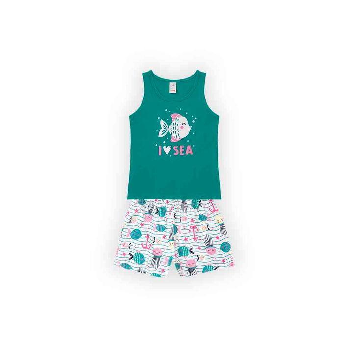 Conjunto-Infantil-Menina-Com-Estampa-De-Peixinhos---Verde