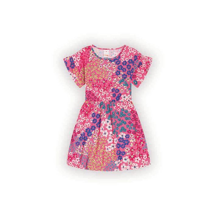Vestido-Infantil-Menina-Com-Estampa-Floral---Rosa