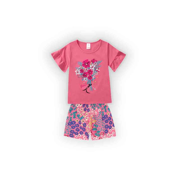 Conjunto-Infantil-Menina-Com-Estampa-De-Passarinhos---Rosa