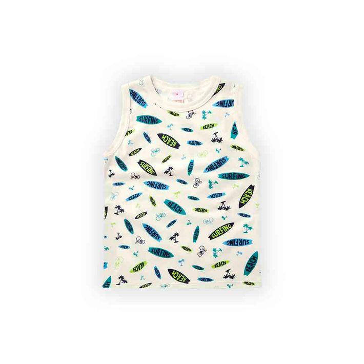 Camiseta-Regata-Infantil-Menino-Com-Estampa-Praiana---Bege