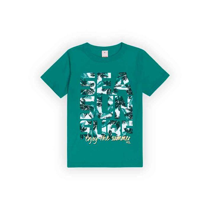 Camiseta-Infantil-Menino-Com-Estampa-Praiana---Verde