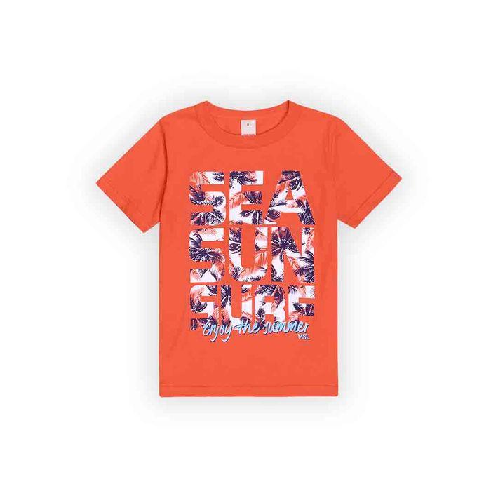 Camiseta-Infantil-Menino-Com-Estampa-Praiana---Laranja