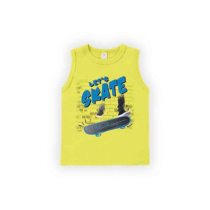 Camiseta-Regata-Infantil-Menino-Com-Estampa-De-Skate---Amarela
