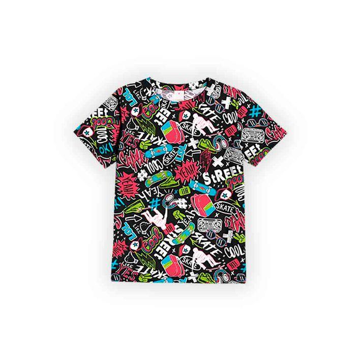 Camiseta-Infantil-Menino-Com-Estampa-De-Skate---Preta