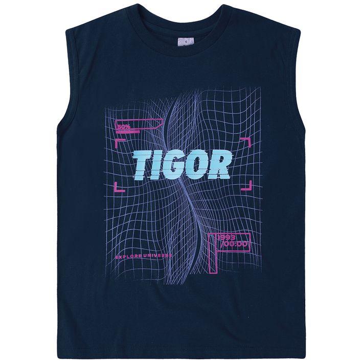 Camiseta-Regata-Infantil-Menino-Com-Estampa-Frontal---Azul