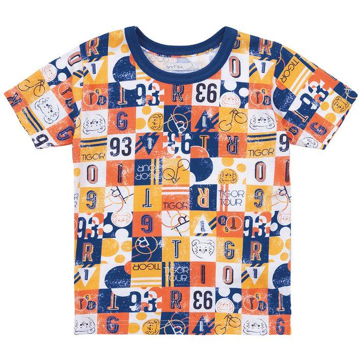 Camiseta-Bebe-Menino--Manga-Curta---Azul
