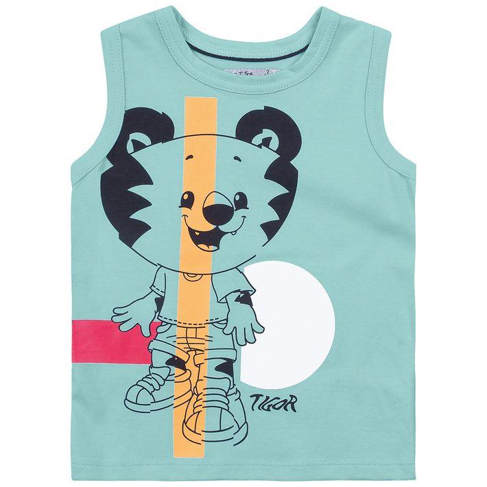 Camiseta-Regata-Bebe-Menino--Com-Estampa-Do-Personagem---Azul