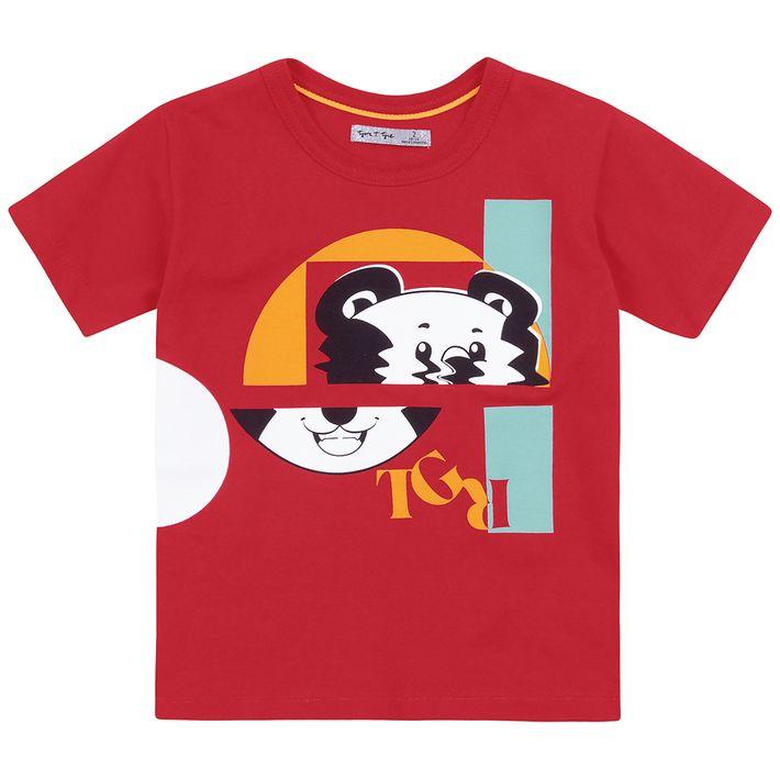 Camiseta-Bebe-Menino--Manga-Curta---Vermelha