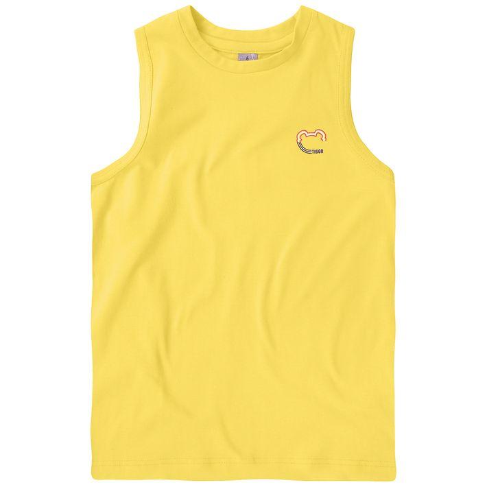 Camiseta-Regata-Infantil-Menino-Basica---Amarela
