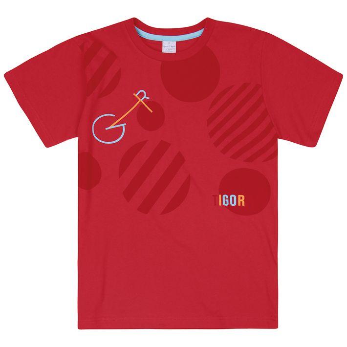 Camiseta-Infantil-Menino-Manga-Curta---Vermelha