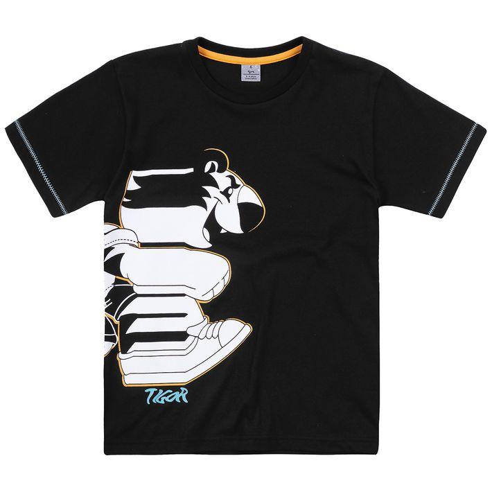 Camiseta-Infantil-Menino-Com-Estampa-Do-Personagem---Preta