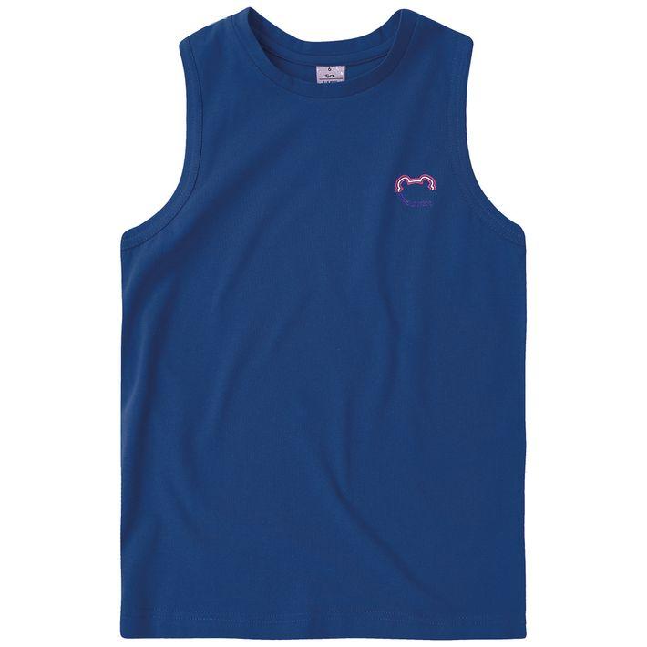 Camiseta-Regata-Infantil-Menino-Basica---Azul