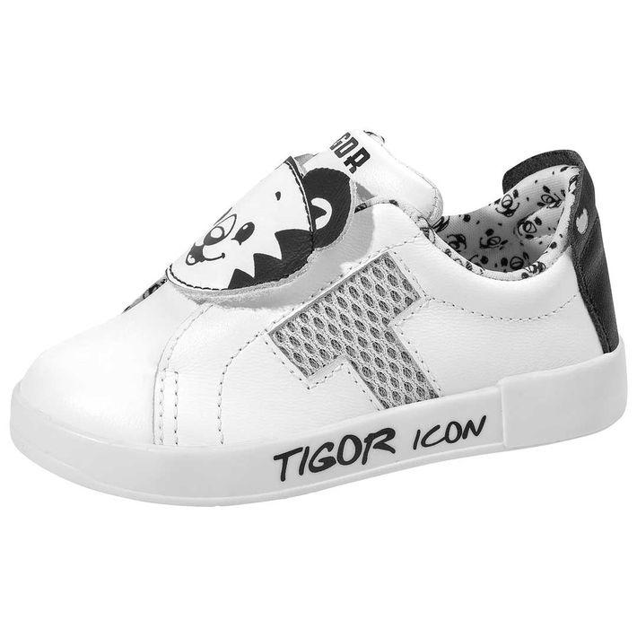 Tenis-By-Tiger-Snap-Low-Bebe-Menino--Com-Uma-Tira-Em-Velcro---Branco