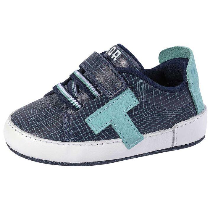 Tenis-Tg-Urban-Grid-Rn-Bebe-Menino--Com-Tiras-De-Velcro-Com-Elastico---Azul