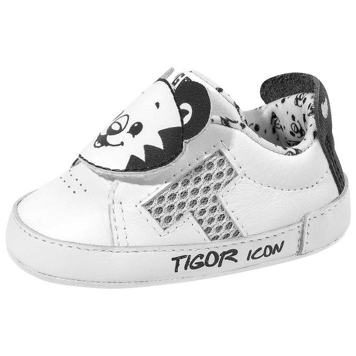 Tenis-By-Tiger-Og-Rn-Bebe-Menino--Com-Uma-Tira-Em-Velcro---Branco