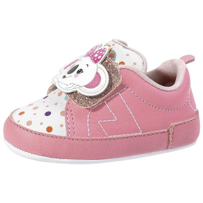 Tenis-Snap-Mini-Dots-Print-Daily-Bebe-Menina-Com-Uma-Tira-Em-Velcro---Rosa