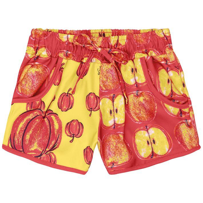 Short-Infantil-Menina-Com-Estampa-De-Frutinhas---Vermelho