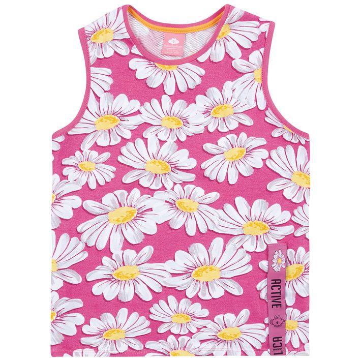 Blusa-Regata-Infantil-Menina-Com-Estampa-Floral---Rosa