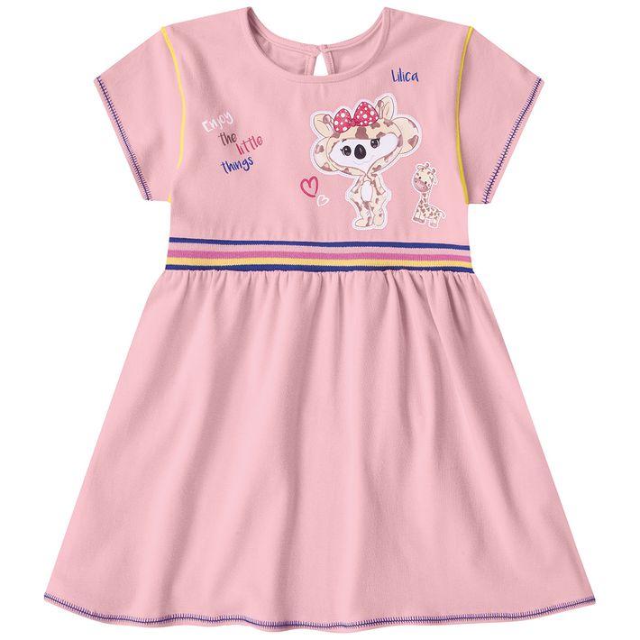 Vestido-Bebe-Menina-Com-Faixa-Na-Cintura---Rosa
