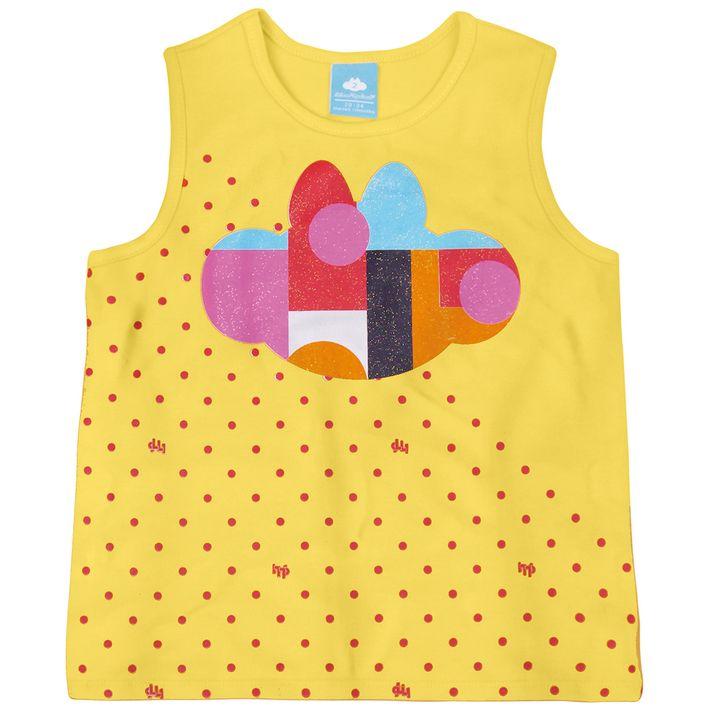 Blusa-Regata-Bebe-Menina-Com-Silhueta-Da-Personagem---Amarela