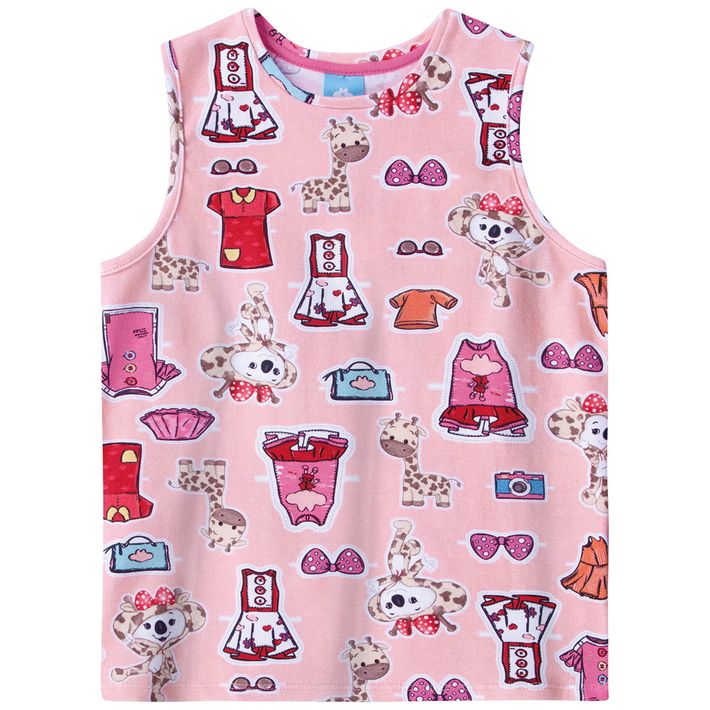 Blusa-Regata-Infantil-Menina-Com-Estampa-Da-Personagem---Rosa