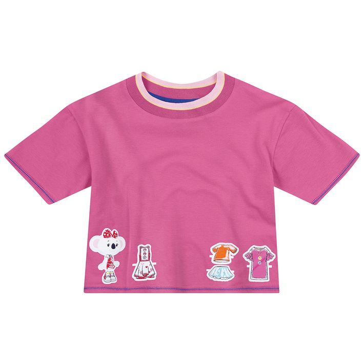 Blusa-Infantil-Menina-Com-Modelo-Cropped---Rosa