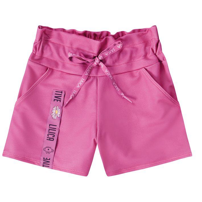 Short-Infantil-Menina-Com-Bolsos-Laterais---Rosa