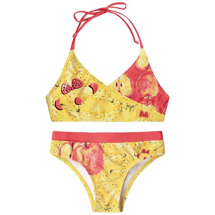 Biquini-Infantil-Menina-Com-Estampa-De-Frutinhas---Amarelo