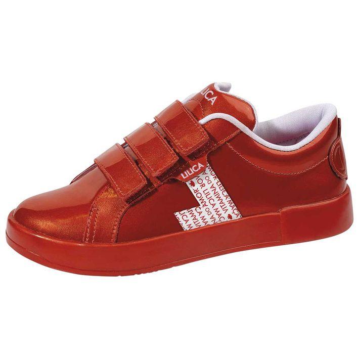 Tenis-Cs-Love-Yourself-Infantil-Menina-Com-Tres-Tiras-De-Velcro---Vermelho