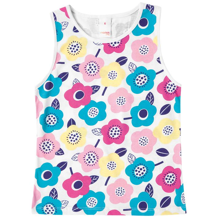 Blusa-Regata-Infantil-Menina-Com-Estampa-Floral---Branca